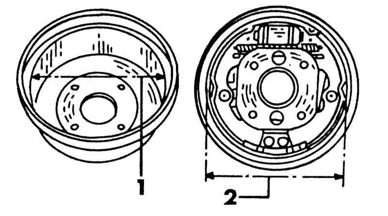 Установить диаметр тормозных